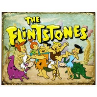 The Flintstones Hanna Barbera Tin Sign Childhood Birthday Cocoa Pebbles Dino D15