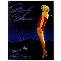 Marilyn Monroe Queen of The Silver Screen Tin Sign Movie Star Pin Up Girl G30