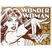 Wonder Woman Tin Metal Sign DC Comics Comic Book Justice League