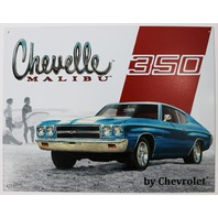 Chevy Chevelle Malibu Tin Sign Chevrolet 350 V8 Garage Rod SS Super Sport