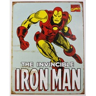 Iron Man Tin Metal Sign Avengers Stark Marvel Comic Books Hulk Loki Thor