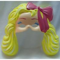 Vintage Fashion Barbie Mattel Halloween Mask Doll Makeup Style Blonde Blondie