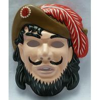 Walt Disney Captain Hook Vintage Halloween Mask Rubies 1993 PVC Peter Pan Y036