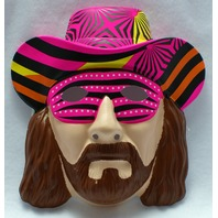 WWF Macho Man Randy Savage Vintage Halloween Mask Rubies 1991 WWE Wrestling NOS