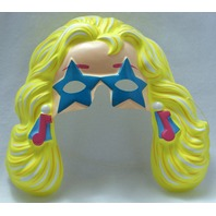 Vintage Rockin Barbie Party Halloween Mask Mattel 1991 PVC Doll Y079