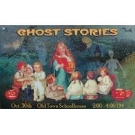 Ghost Stories Old Town School House Tin Metal Sign Halloween Vintage Style D36