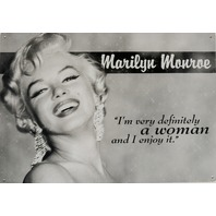Marilyn Monroe Woman Quote Tin Sign Blond Bombshell Classic Hollywood Pin Up