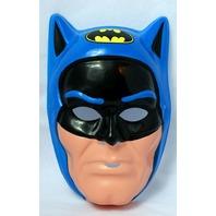 Vintage 80s Batman Super Hero Halloween Mask DC Blue Ben Cooper New York Y098