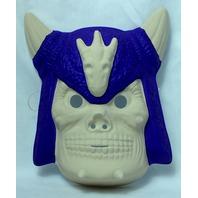 Skull Devil Skeleton Vintage Mask Plastic New Old Stock Halloween Masks