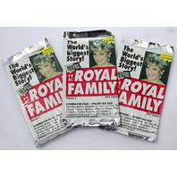 Vintage The Royal Family Trading Cards 1993 Edition Diana England 3 PACKS
