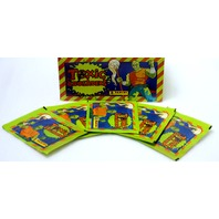 Vintage Toxic Crusaders Sticker Cards 5 PACKS Baseball Trading Cards 90's