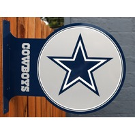 Dallas Cowboys Flange Tin Metal Sign Double Sided NFL Football Star Logo