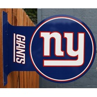 Double Sided New York Giants Flange Tin Metal Sign NFL Football Team Sports NY