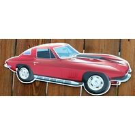Chevy Corvette Die Cut Tin Sign V8 427 1963 Vette Chevrolet Split Glass Ray G02