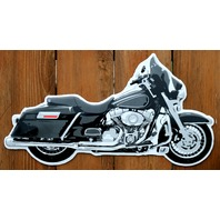 Full Dress Road King Motorcycle Die Cut Tin Sign HD Harley V Twin Garage G14