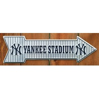 NY Yankee Stadium Arrow Tin Sign New York NYC MLB Baseball Yankees Jeter AL G6