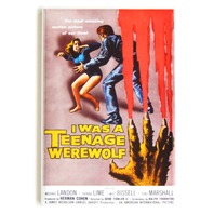I was a Teenage Werewolf horro halloween movie poster FRIDGE MAGNET N9