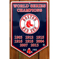 Boston Red Sox World Series Champions Pendant Metal Sign Baseball Sports MLB G25