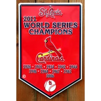St Louis Cardinals 2011 World Series Champions Tin Metal Sign MLB Baseball G21