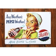 Any weathers Pepsi Weather Tin Sign Winter Vintage Style Kitchen Restaurant G25