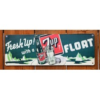 Fresh Up With A 7up Float Tin Sign Soda Pop 7 up Kitchen Vintage Style G8