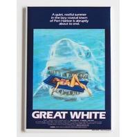 Great White slasher horror shark movie poster FRIDGE MAGNET refrigerator P33