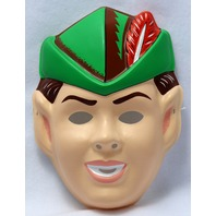 Vintage Peter Pan Halloween Mask Cartoon Birthday Party Dress Up Child Size Y100