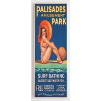 Palisades Amusement Park FRIDGE MAGNET Vintage Style Bikini Swimming Pool LA6