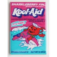 Sharkleberry Fin Koolaid Kool Aid man Pink Shark  wrapper FRIDGE MAGNET L24
