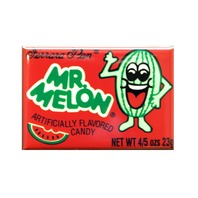 Mr Melon watermelon lemon head candy box FRIDGE MAGNET Nostalgia repro O27