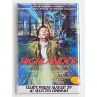 Highlander There can be only one movie poster FRIDGE MAGNET refrigerator  L10