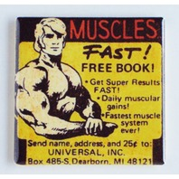 Muscles Fast comic book magazine ad work out retro universal FRIDGE MAGNET L8