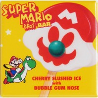 Yoshi Super Mario Bros Popsicle bar Fridge Magnet Arcade Game Nintendo B4