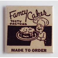 Fancy Cakes retro pastry shop ad Refrigerator Fridge Magnet cake store K8