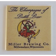 Miller Brewing co beer witch on moon Fridge Magnet Champaign bottle beer M27