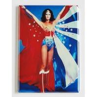 Lynda Carter Wonder Woman tv show 70s reproduction FRIDGE MAGNET cape boots M26