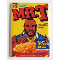 Mr T cereal box FRIDGE MAGNET retro 80s repro Quaker I Pitty The Fool