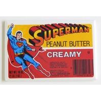 Superman peanut butter label FRIDGE MAGNET retro jar ad advertisement repro H11