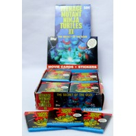 Vintage Topps TMNT Teenage Mutant Ninja 2 Turtles Wax Pack Trading Cards 3 Packs