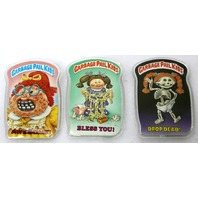 Vintage Topps Garbage Pail Kids Button Set of 3 GPK 1980's Pop Art Lot 2