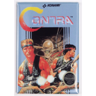 Contra NES box cover FRIDGE MAGNET kanomi nintendo 90s retro video game
