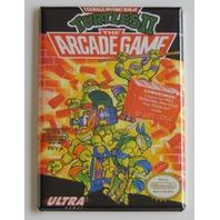 TMNT NES box cover FRIDGE MAGNET turtles 2 arcade game nintendo mag retro 90s