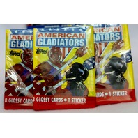 Vintage Topps American Gladiators Wax Pack Trading Cards 3 Packs Sports 90's pop