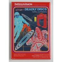 Tron Deadly Discs FRIDGE MAGNET Intellivision Mattel Electronics game magnet L4