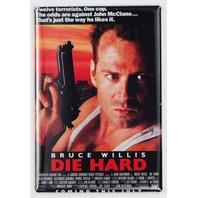 Die Hard movie poster FRIDGE MAGNET retro 80s Bruce Willis action magnet N3