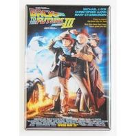 Back to the Future 3 FRIDGE MAGNET retro 90s time machine delorean Spielberg P4