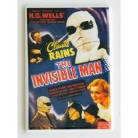 The Invisible Man FRIDGE MAGNET H G Wells Claude Rains retro 30s sci fi P9
