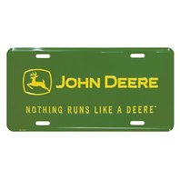 Nothing Runs Like A John Deere Metal License Plate Tractor Farm Equipment S17