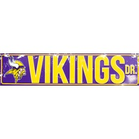 Minnesota Vikings Drive Tin Metal Street Sign NFL Football Team Sports Decor G84