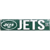 New York Jets Drive Tin Metal Street Sign NFL Football Team Sports Decor NYC G88